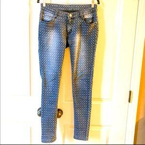 EUC Flirt printed jeans jegging